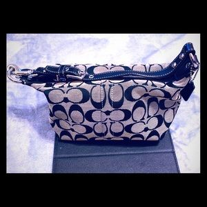 Coach small black and gray bag